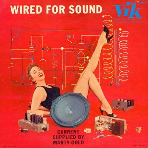 Wired For Sound Space Age easy listening style record by Marty Gold and His Orchestra